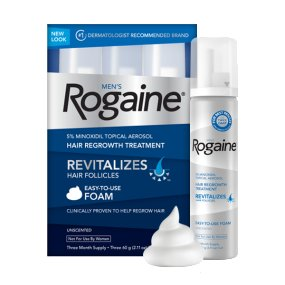 Rogaine minoxidil as a medical hair loss treatment for men and women